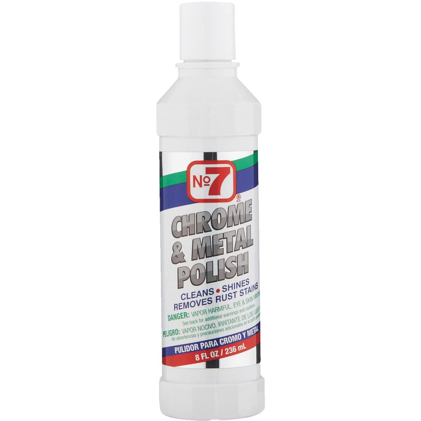 NO. 7, 8 oz Liquid Metal and Chrome Polish Image 1