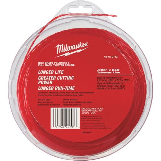 Milwaukee 0.095 In. x 250 Ft. Trimmer Line